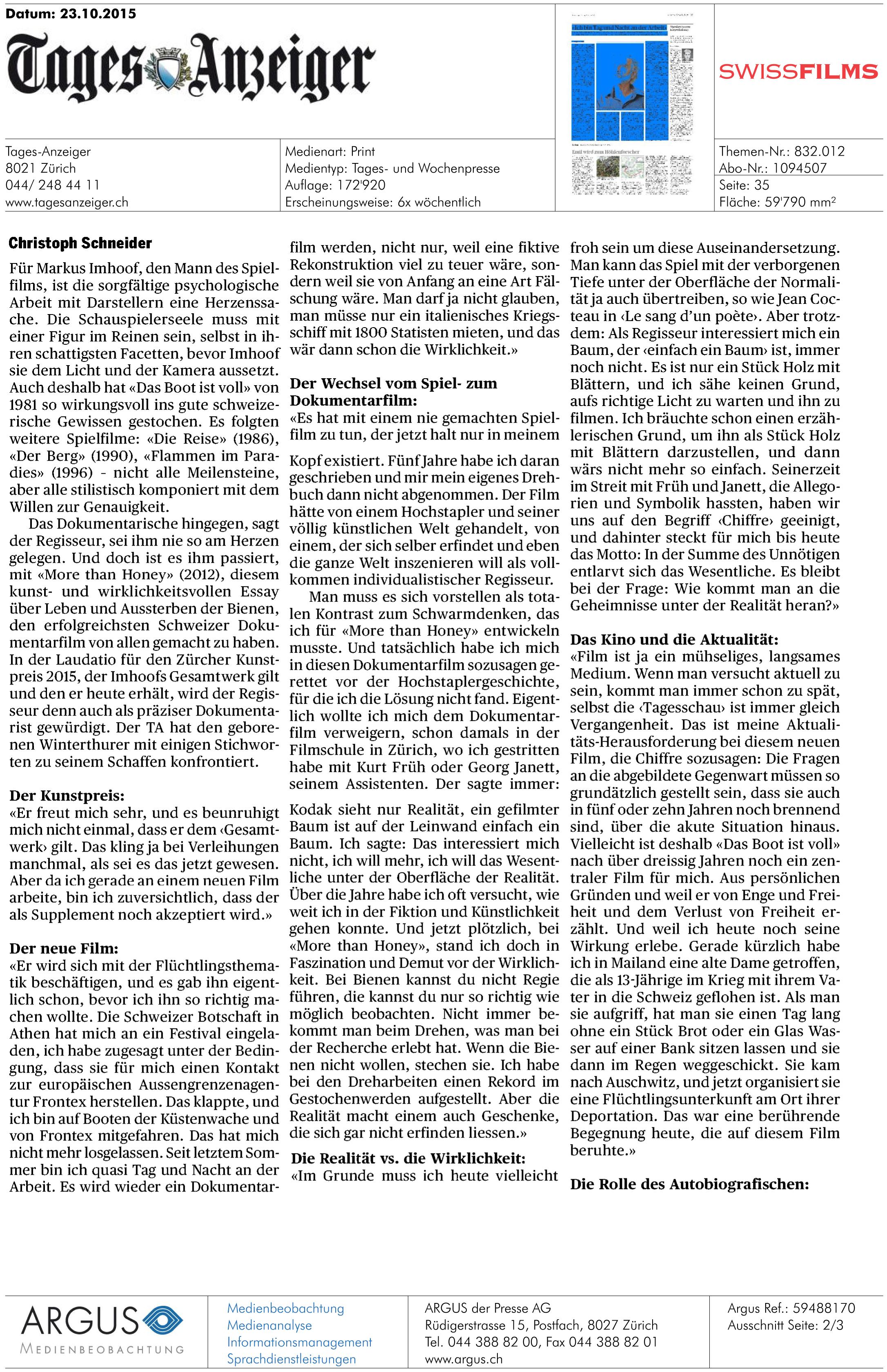 Eldorado - Tages Anzeiger 23.10 p2